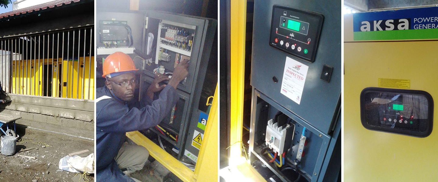 We install power generators to cater for power blackouts
